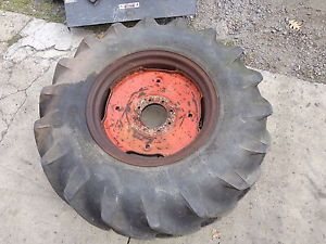 Case 530CK Backhoe Loader Rear Tire Rim BF Goodrich 14 9x24 Nice Wheel 530