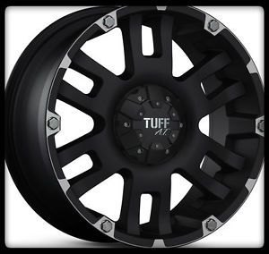 "15"" x 8"" Tuff T04 Black Rims w 33x12 50x15 BFGoodrich A T TA KO Wheels Tires"