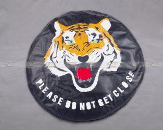 "New Universal Spare Wheel Tire Tyre Soft Cover 27"" Tiger"