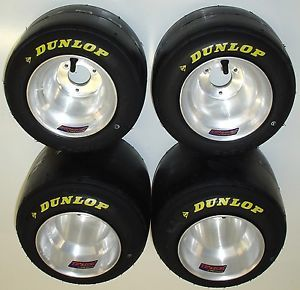 New Set of Dunlop Racing Go Kart Tires Used Wms Aluminum Wheels