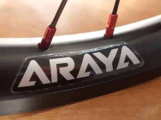 Araya Aero Rims Tensile 911 SEALED Hubs 9 Tooth Araya Black Spokes Alloy Nipple