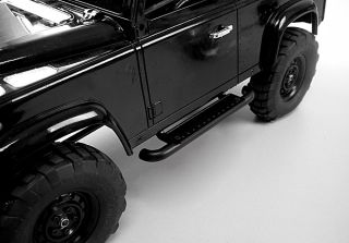 Gelande Meal Side Step Bars 2 Black RC4WD D90 Landie Body Rock Sliders