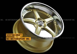 "20"" Vertini Drift Wheels Rims Infiniti G35 G37 Nissan 350Z 370Z Staggered Rims"