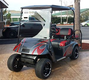 2008 EZGO Electric Custom Golf Cart  Custom Paint Wheels Tires