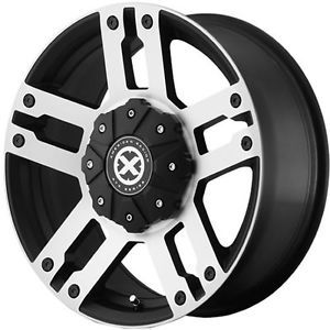 17x8 5 Black American Racing ATX AX190 Wheels 5x150 30 Lifted Toyota Tundra