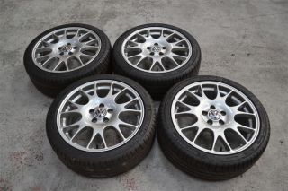 "Genuine 18"" Volkswagen VW Golf MK5 GTI Edition 30 Alloy Wheels BBs CH Tyres"