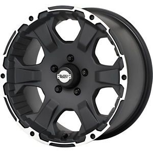2 New 15x6 0 Offset 5x114 3 Black Rock Intrepid Black Wheels Rims