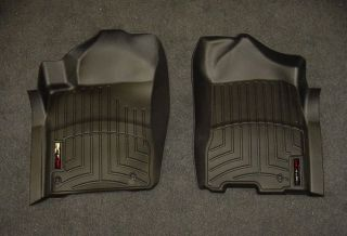 WeatherTech Digital Fit Black Front Floor Mats Liners 08 13 Nissan Titan 442091