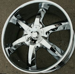 "Akuza Lacuna 760 22"" Chrome Rims Wheels Dodge Avenger 08 Up 22 x 8 5 5H 35"