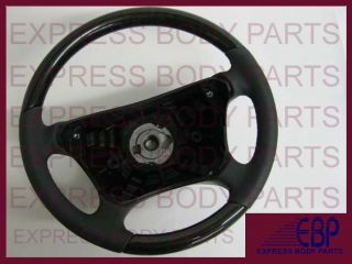 Mercedes Steering Wheel E350 E CLS CLK Black Leather Birdseye Maple Wood W211