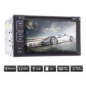 "Touch Screen 2 DIN 6 2"" Car CD USB DVD Stereo Audio Player Bluetooth Radio"