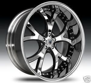 "26"" asanti 26 inch AF143 AF 143 Chrome Multi 2 Piece Rims Wheels Tires Package"