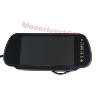 New 7 inch TFT LCD Widescreen Car Rearview Backup Monitor Mirror DVD VCR
