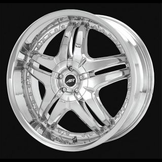 American Racing 24X10 Burn Wheels Rims AR6372 Chrome
