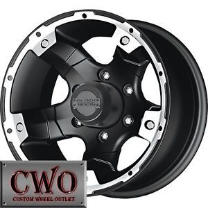 15 Black Black Rock Viper Rims 5x139 7 5 Lug Dodge RAM Dakota Durango F 150 CWO