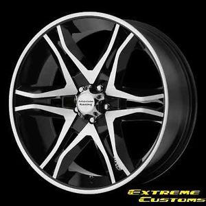20 x8 5 American Racing AR893 Mainline Black Mach 5 6 Lug Wheels Rims Free Lugs