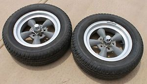 "American Racing Torq Thrust Wheels with Tires 15x4 5"" Used Javelin Comet B"