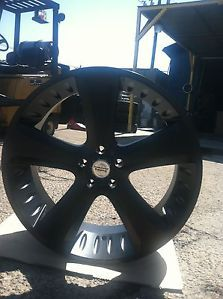 "24"" Black Rims Tires 5x150 Toyota Tundra Sequoia American Racing Circuit"