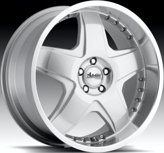18x9 5 Advanti Racing Martelo 5x112 45 Silver Rims Wheels Fit VW CC Golf Jetta