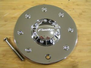 Panther 330 Groove Chrome Wheel Rim Center Cap EMR330 Cap Truck 52002295F 1