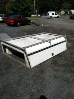 Are 8ft Aluminum Contractors Truck Cap with Ladder Rack