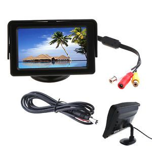 "4 3"" TFT LCD Car Reverse Rearview Color Monitor DVD VCR"