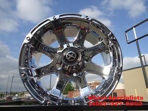 "ATX AX 188 Ledge Chrome Offroad Wheels 17 inch 17x8"" 0mm Toyota Tundra Sequoia"