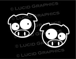 "2 ""Rally Pig"" Vinyl Decals Stickers VW BMW JDM Car Truck Racing Auto x Drift"