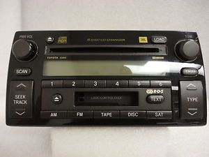 05 06 Toyota Camry JBL Radio Stereo 6 Disc Changer Tape RDS CD Player A56841
