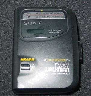 Sony Personal Am FM Cassette Player Walkman Wm FX303 Auto Reverse Mega Bass