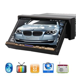 "New Model 1 DIN Indash 7"" Car Stereo DVD CD iPod  Radio TV Player Free Camera"
