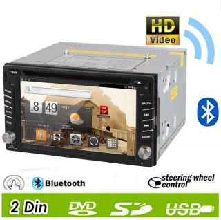 Android Double 2 DIN 3G WiFi Car GPS DVD Player BT Stereo Radio iPod RDS 6 2inch