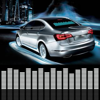 Car Sticker Music Rhythm LED Flash Light Lamp Sound Activated Equalizer 10styles