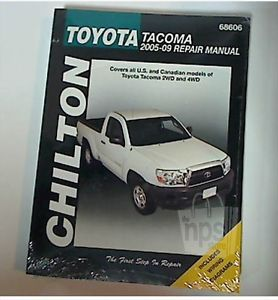 Chilton 68606 Total Car Care Auto Repair Manual for Toyota Tacoma 2005 2009 New