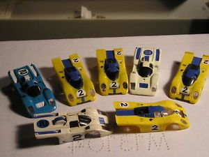 Aurora AFX Ferrari 512M Porsche 917 Vintage Slot Car Junkyard Parts Body Lot