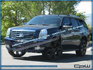 "24"" inch Gloss Black Cadillac Escalade Wheels Rims ESV Ext Marcellino New Design"