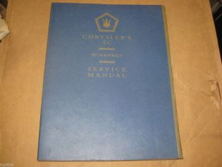 1988 Chrysler TC by Maserati Service Shop Original Dealer Repair Manual