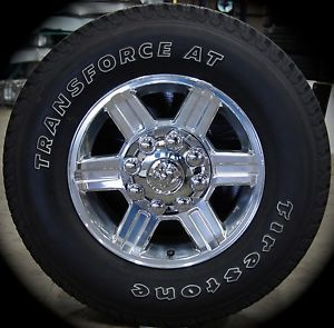 "New Dodge RAM 2500 3500 8 Lug Polished 17"" Factory Wheels Rims Tires 2003 2013"