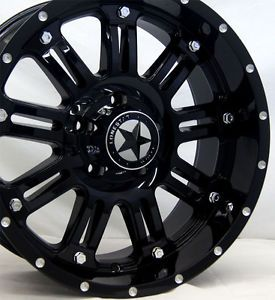 "Lonestar ""489"" Gloss Black Wheels 20 inch Dodge Truck RAM 1500 20"" Rims 5x5 5"