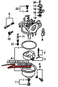 Honda Harmony HR216 HRA216 HRC216 Lawn Mower Carburetor 16100 ZE7 055 GV160 New
