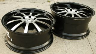 TSW Willow 19 x 8 0 9 5 Black Rims Wheels Bentley Continental GT 5H 20
