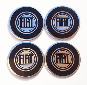 Aluminium Alloy Wheel Center Cap Stickers 55mm Fiat 500 1