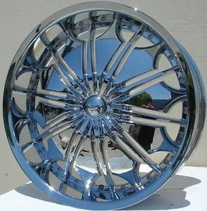 28 inch Dcenti DW29 Chrome Wheels Rims Fit Chevy Cadillac GMC Nissan Ford