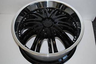 "20"" Black Wheels Rims Chevy Camaro Corvette S10 4WD Jaguar XJ XK Pontiac"