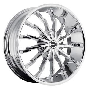 22 inch Strada Stiletto Chrome Wheels Rims 5x4 25 Jaguar XK XF XJ Base Models