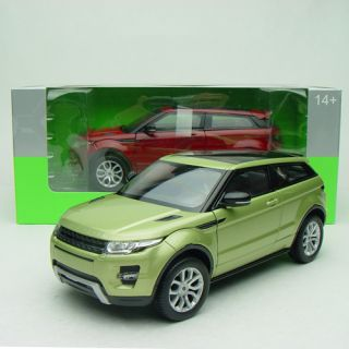 1 24 Welly FX Serie Land Rover Range Rover Evoque Green Full Screen Roof 24021XW