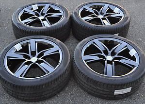 "20"" Camaro SS PVD Black Chrome Wheels Rims Tires 45th Anniversary Wheels"