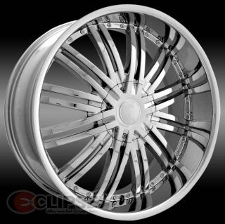 22 inch ELR19 Chrome Wheels Rims Chrysler 300C 5x115