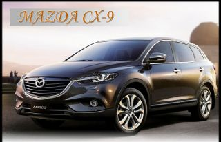 4 Wheels Carbon Wheels Mask Decal Sticker Trim Exterior for Mazda CX 9