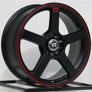 17 inch Wheels Rims Black Scion Acura Honda Accord Civic Nissan Altima 5 Lug